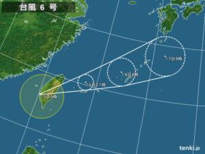 台風6号直撃