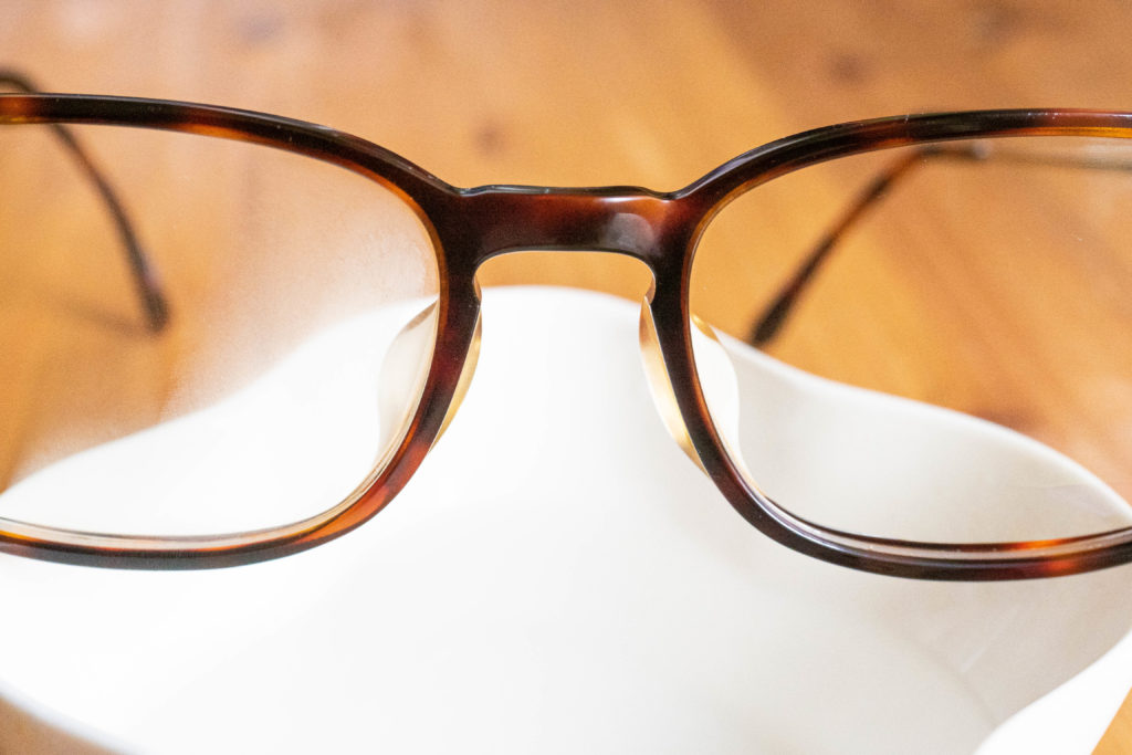 メガネの曇り止めを実験