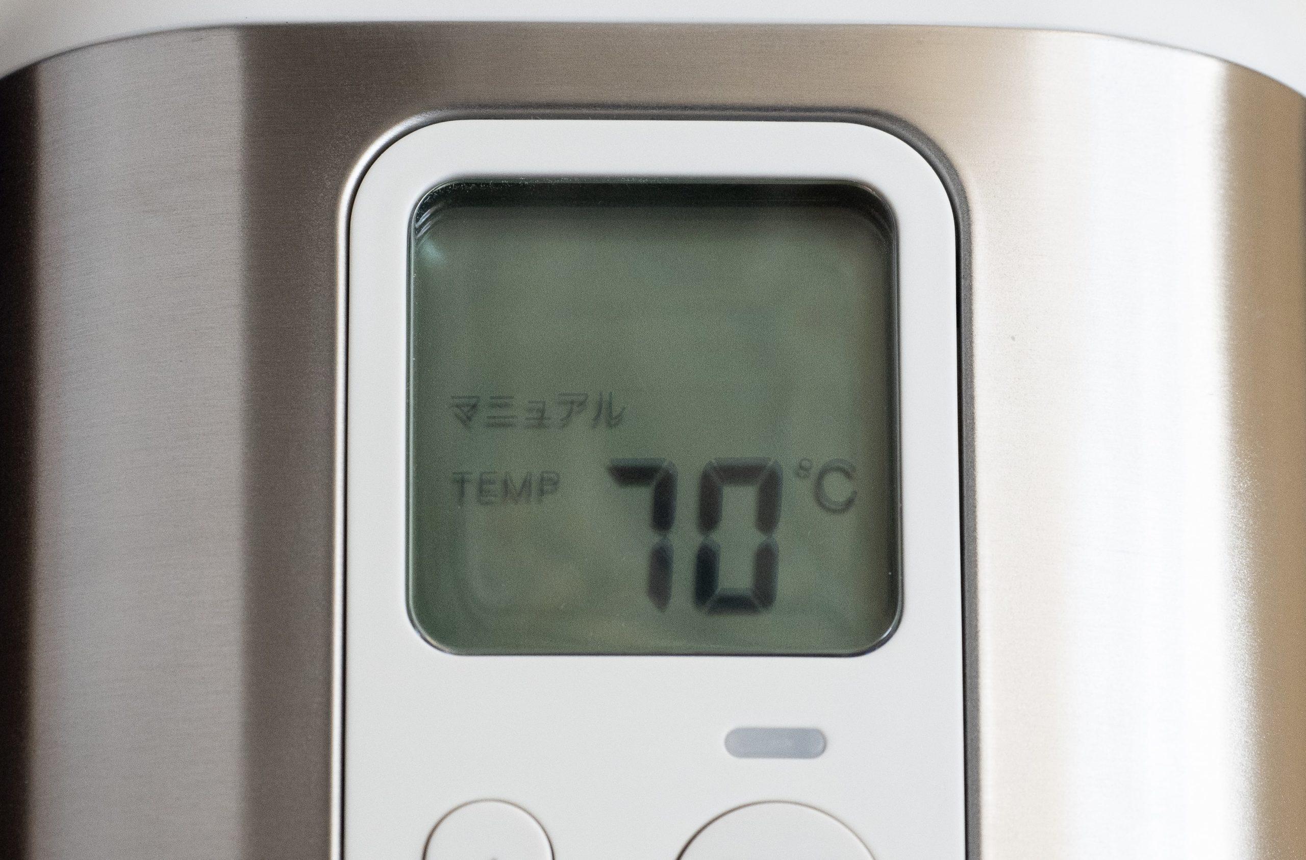 マニュアル70℃まで