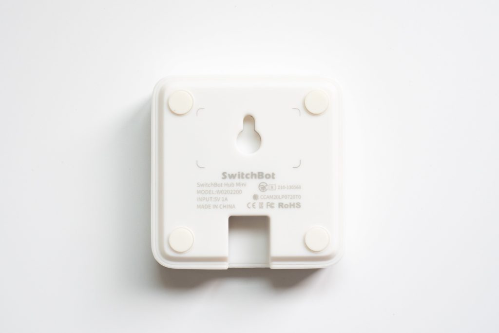 switchbot hub miniの裏側