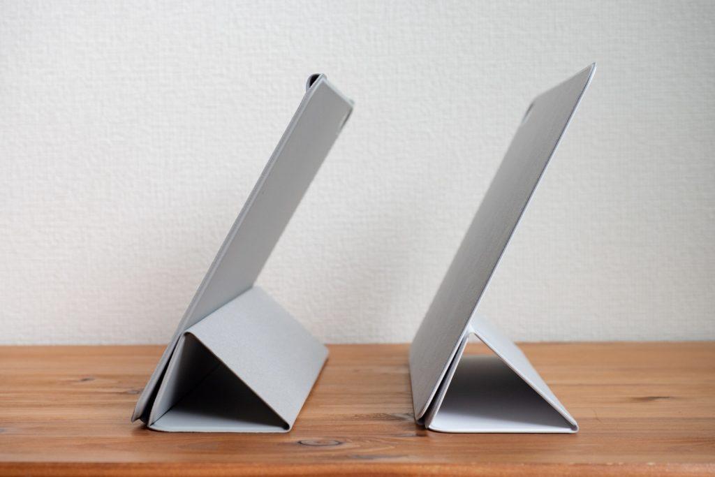ESR iPad Air 4 ケースとSmart Folioの三つ折り65°