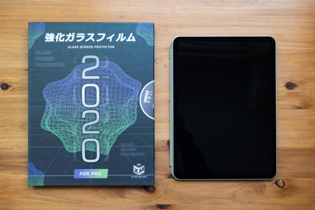 iPad Air4用強化ガラスフィルム