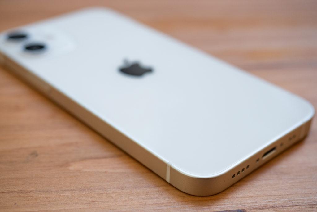 iPhone12miniのアルミニウムエッジ
