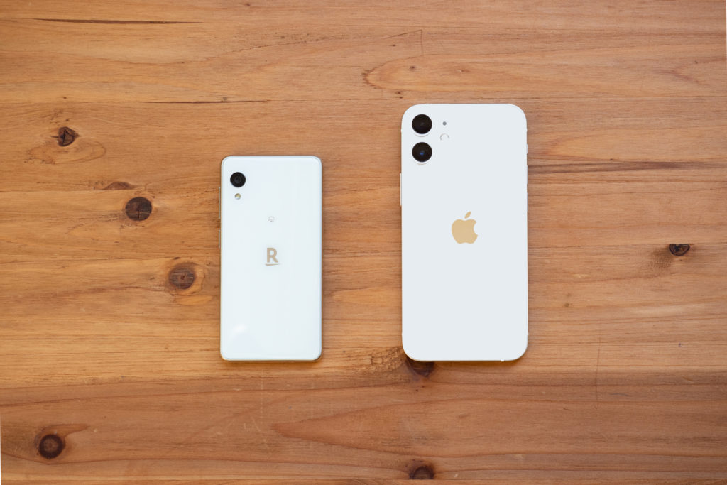 iPhone12miniとRakuten miniの比較