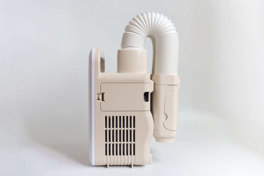 アイリスオーヤマ布団乾燥機『カラリエ ツインノズル KFK-W1-WPのホースは固定できる