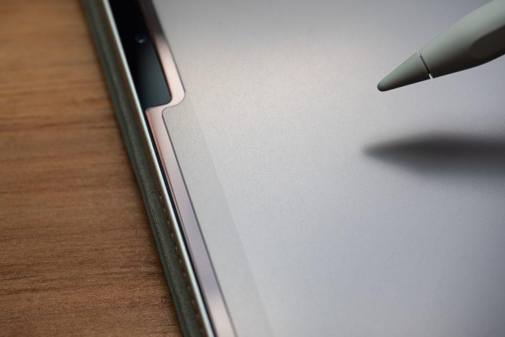 Apple pencilを使っているとpaperproがズレてくる