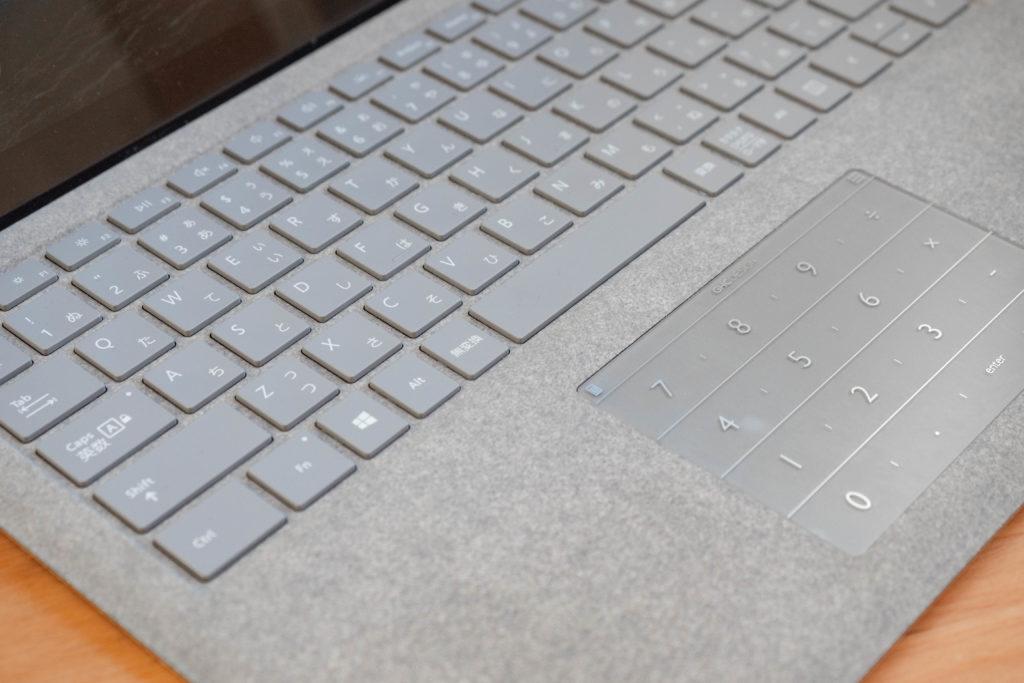 surfaceのアルカンターラとキーボード