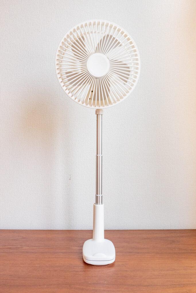 コンパクトクリップ式扇風機は最大545cm伸ばせる