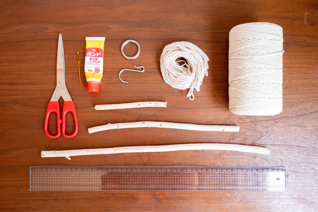 マクラメ編みの材料