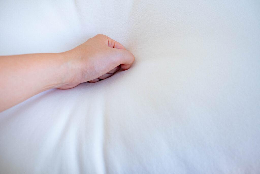 無印良品の[頭を支える沈み込み過ぎないふっくら枕40×60cm]