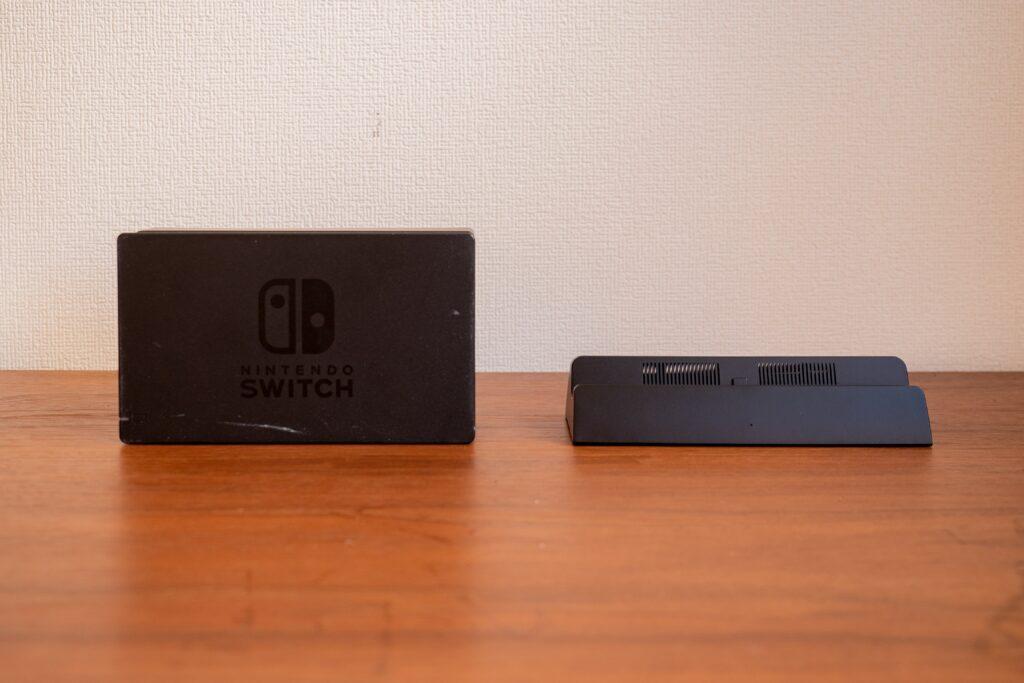 Nintendo Switchの純正ドックと1/3サイズのドック